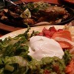 Fajitas chicken & steak and extras