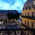From the balcony at dusk