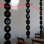 Vinyl 'feature wall'.