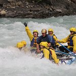 Level 4 rapids. That's Brittney waving and me screaming on the back.