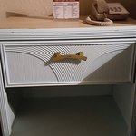 This one of the dressers in the living area. Painted green to match other furniture.