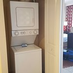 Washer and dryer with soap supply