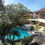 Mutiara's room and view from the hotel balcony