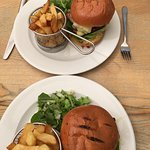 Beef burgers for two.