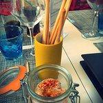 Amuse-bouche : rillettes de thon moutardées et gressins