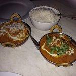 Chicken Korma and Goan fish