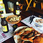 Beer and crabs made me so happy!!!