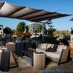 A bar winter terrace