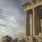 The Parthenon fills the spaces of the hotel