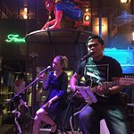 Ian Mendoza and Trixie Cruz at the Banana Leaf Bar, Siem Reap