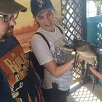 The after ride experience allows you to get up and close with a gator raised in captivity.