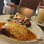 delicious lamb lasagne and lemon ginger tea