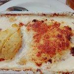 piatto cicoria, patate, formaggio e prosciutto