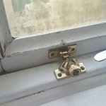 Unsafe lock on window that did not close properly.