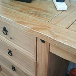 Dented/marked table