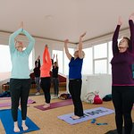 Yoga class at Northern Light Inn, Galaxy Tower
