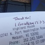 Probably just one inappropriate server but still this should never be put on a receipt.