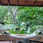 The hammock in Villa 2.