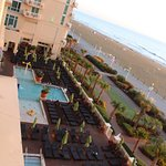OBC - view of both outdoor pool areas