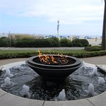 OBC/Oceanaire - fire pit and waterfall at adult only pool