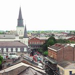 Cathedral & Jackson Square from scenic viewing deck