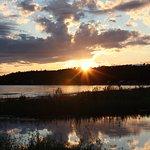 Sunset at Balsams Beach over Lake Michigan
