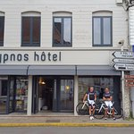 The owner took our photo just before we set off for Calais 65 miles away