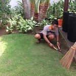 Komang busy as usual