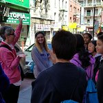 Many school groups come on walking tours
