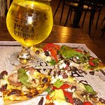 Hand crafted, publish your own pizza and pineapple cidre