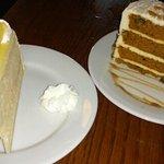 Lemon cake and carrot cake