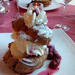 Enjoy a fantastic dessert.