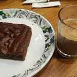 Brownie and tea is a must! Cheap and mouth watering!