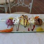 Eisvariationen als Dessert