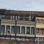 Historic Victoria harbor-side warehouses