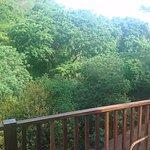 Vista desde el balcón de la habitación.