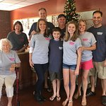 Christmas at Hickory Pit!  We love our shirts!