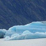 Blue striped iceberg