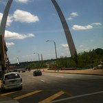 Short walk to the St. Louis Arch