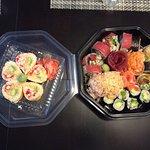 Maki, sashimi et nigiri