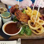 Surf and Turf sharing platter. Definitely recommended. Best presentation I've seen for this kind