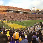 The view from the Student Section of Tiger Stadium