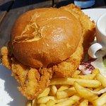 Fabulous chicken burger.