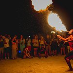From our pre-wedding bonfire. Brainstorm, the fireeater/dancer. Photo by Studio Saldana Photogra