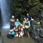 This was at the bottom of the waterfall... exhilarating!