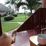 Coffee from our deck in the mornings!