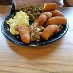 Wife got the regular BBQ plate and potato salad along with green beans