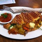 Roasted vegetable and feta croissant