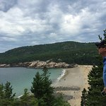 Sand beach view from hiking trail