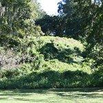"The massive platform or ""temple"" mound at Lake Jackson Mounds."